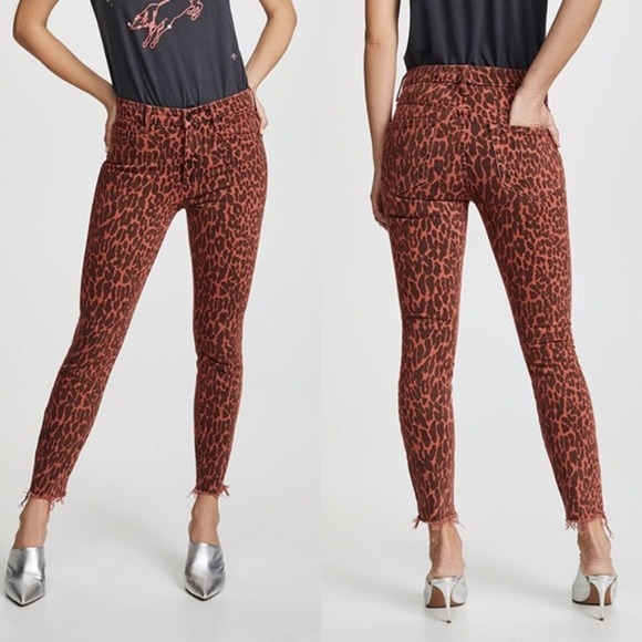 NWT MOTHER The Looker High Rise Animal Jeans 26